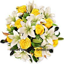 productA Bunch Of Lilies And Roses