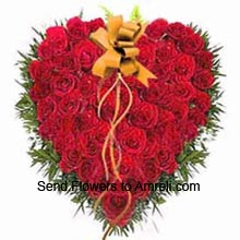 productHeart Shaped Arrangement Of 40 Red Roses