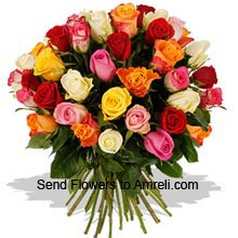 productBunch of 40 Mixed Color Roses