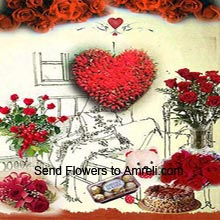 productHeart Shaped Arrangement Of 200 Red Roses, Basket Of 12 Red Roses, 12 Red Roses In A Vase, Bunch Of 24 Red Roses, Bunch Of 6 Red Roses, Box Of 16 Pieces Ferrero Rocher Chocolates, Small Cute Teddy Bear, 1Kg (2.2 Lbs) Butter Scotch Cake