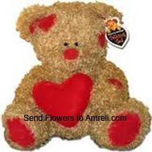 productA Medium Size Teddy Bear With A Heart (  Please Note That We Reserve The Right To Substitute Any Product With A Suitable Product Of Equal Value In Case Of Non Availability Of A Certain Product)