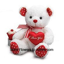 productMedium Size Cute Teddy Bear With A Heart (  Please Note That We Reserve The Right To Substitute Any Product With A Suitable Product Of Equal Value In Case Of Non Availability Of A Certain Product)