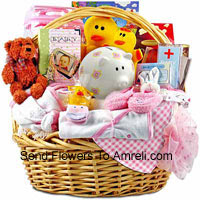 A Kit Having Both The Clothes And Essential Products Like Toiletries etc. This Is A Perfect Gift For A Newly Born Girl