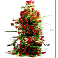 product4 Feet Tall Basket Of 250 Red Roses