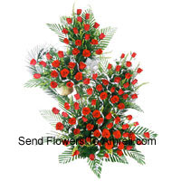 product3 Feet Tall Arrangement Of 200 Red Roses