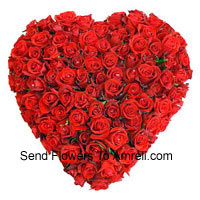 productHeart Shaped Arrangement Of 100 Red Roses