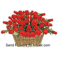 productA Beautiful Basket Of 50 Red Roses