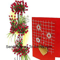 product4 Feet Tall Arrangement Of 400 Red Roses