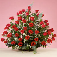 productBasket Of 50 Red Roses