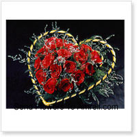 Heart Shaped Basket Of 40 Red Roses