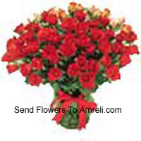 Bunch Of 24 Red Colored Roses