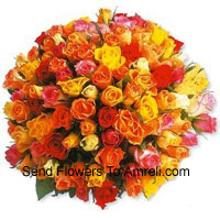 Bunch Of 100 Mixed Colored Roses