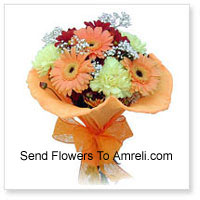 Cute Bunch Of 10 Gerberas