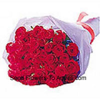 productBeautifully Wrapped Bunch Of 24 Red Roses