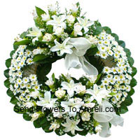 Mixed Flower Wreath