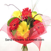 Bunch Of 12 Mixed Colored Gerberas