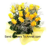 product2 Dozen Yellow Roses With Seasonal Fillers
