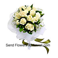 Bunch Of 12 White Roses