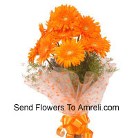 Bunch Of 12 Orange Gerberas
