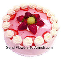 product1/2 Kg (1.1 Lbs) Strawberry Cake