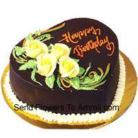 product1 Kg (2.2 Lbs) Heart Shaped Chocolate Truffle Cake