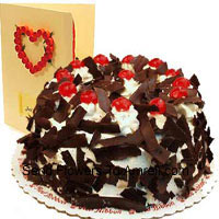 product1 Kg (2.2 Lbs) Chocolate Crisp Cake With A Free Love Greeting Card