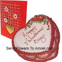 1 Kg (2.2 Lbs) Heart Shaped Strawberry Cake