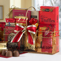 Small Basket Of Assorted Chocolates