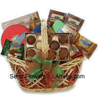 Medium Sized Basket Of Assorted Chocolates