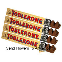 4 Bars Of Toblerone Chocolate