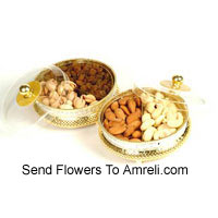 product2 Boxes Of Assorted Dry Fruits. Each Box Has 500 Grams Of Dry Fruit