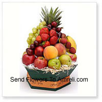 Basket Of 5 Kg (11 Lbs) Assorted Fresh Fruit Basket