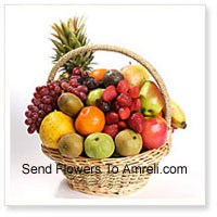 productBasket Of 4 Kg (8.8 Lbs) Assorted Fresh Fruit Basket