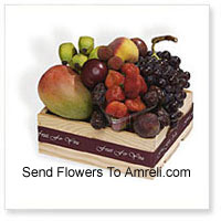 Basket Of 3 Kg (6.6 Lbs) Assorted Fresh Fruit Basket