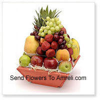 Basket Of 6 Kg (13.2 Lbs) Assorted Fresh Fruit Basket