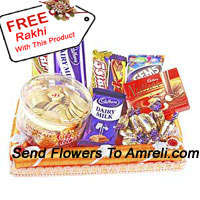 Gift Wrapped Assorted Chocolates With A Free Rakhi (This Product Needs To Be Accompanied With The Flowers)