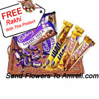 Gift Wrapped Assorted Chocolates With A Free Rakhi(This Product Needs To Be Accompanied With The Flowers)