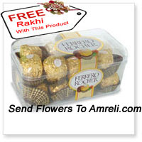 product16 Pieces Ferrero Rocher With A Free Rakhi