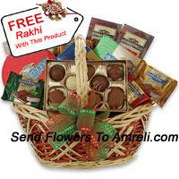 Medium Sized Basket Of Assorted Chocolates With A Free Rakhi