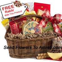 A Big Basket Of Assorted Chocolates With A Free Rakhi