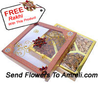 product1kg Assorted Dry Fruit In A Gift Box With A Free Rakhi