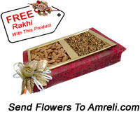 1 Kg Mixed Dry Fruit In A Box With A Free Rakhi