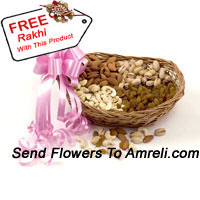 product2 Kg Mixed Dry Fruit In A Basket With A Free Rakhi
