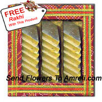 product1Kg Kaju Barfi In A Box With A Free Rakhi