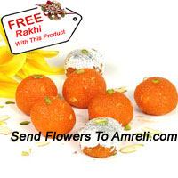 product1Kg Motichoor Laddoo With A Free Rakhi