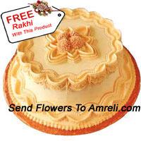 1 Kg (2.2 Lbs) Butter Scotch Cake With A Free Rakhi